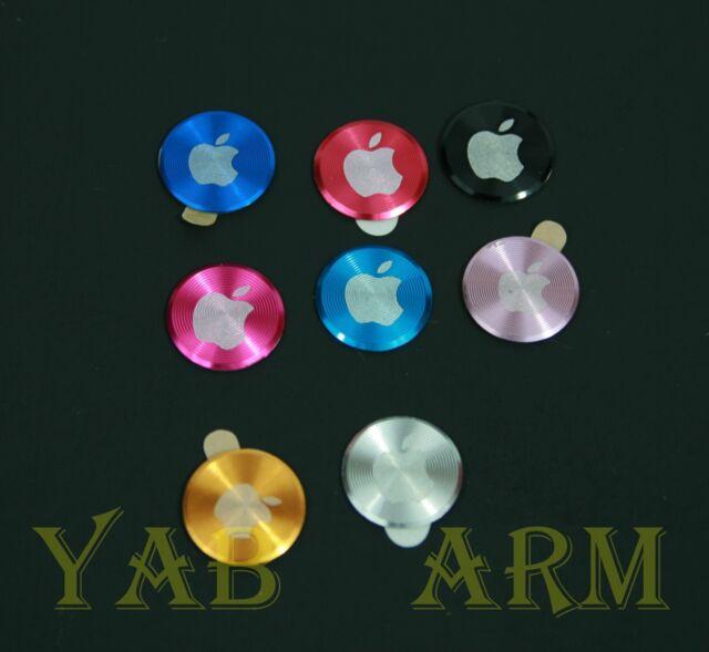 Aluminium Metal Home button Sticker For iPhone 4 4S 5 iPod iPad 1 2 3 APPLE Logo