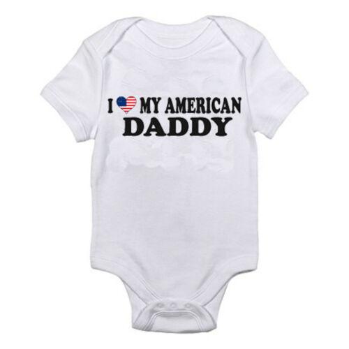 Padre America Me encanta mi American Daddy-Papá Suit divertida temática Baby crecer