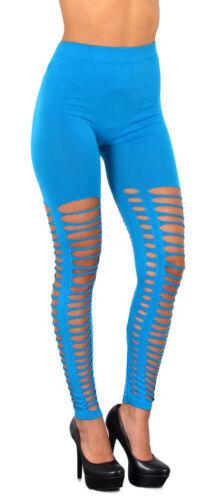 Schlitz Leggings GoGo Style Leggins Schlitz-Look Schlitzleggings L105