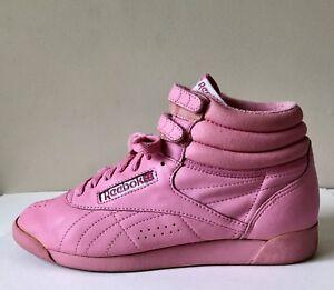 Vtg 80s Bubble Gum Pink High Top Double
