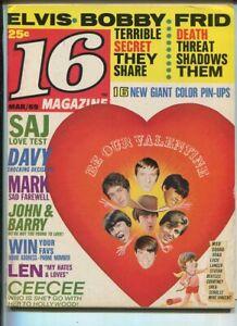 16-Magazine-March-1969-Elvis-Bobby-Sherman-CeeCee-Stefan-Cowsills-MBX89