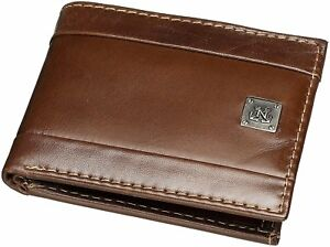 Nautica-Mens-Leather-Passcase-Bifold-Wallet-W-Removable-Card-Case-One