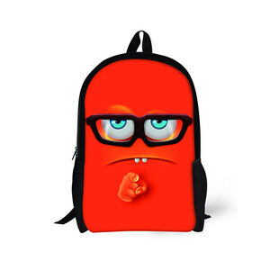ed33796872c6 Image is loading Childrens-Backpack-School-Bags-Boys-Girls-Smile-Emoji-