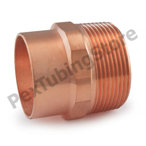 "1-1//2/"" C x 1-1//2/"" Male NPT Threaded Copper Adapter"