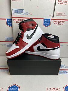 Nike Air Jordan 1 Retro Mid Chicago White Heel Size 8 Gym Red