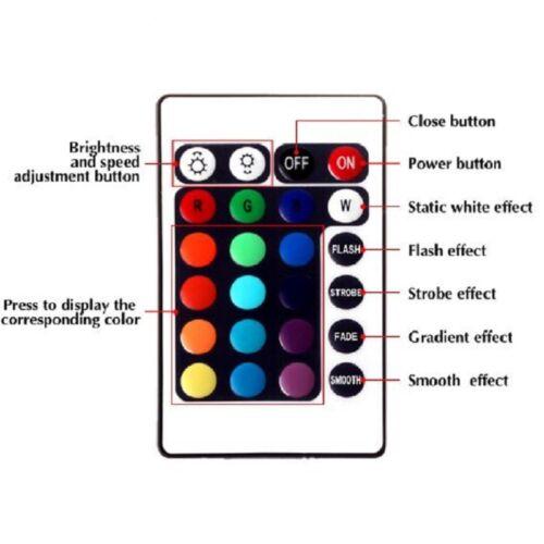 SET LED RGB IR Controller Remote Stripe Steuerung 24 Key RGB Fernbedienung 12V