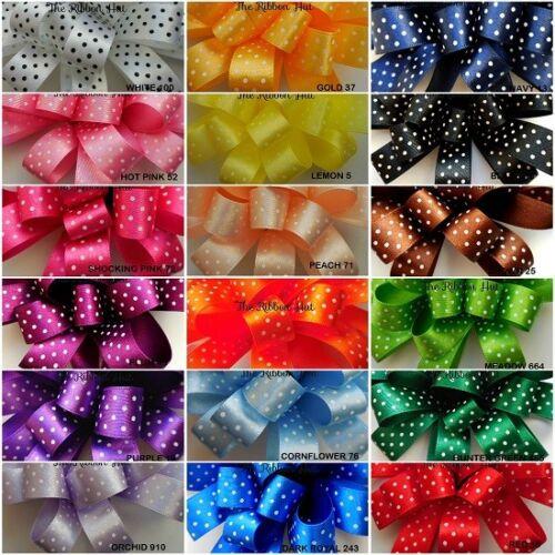 18 Colours 2-5Mtr Lengths Berisfords 10mm-15mm-25mm Micro Small Dot Ribbon