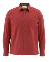 Simms Black's Ford Flannel Shirt Ruby Size Medium Closeout