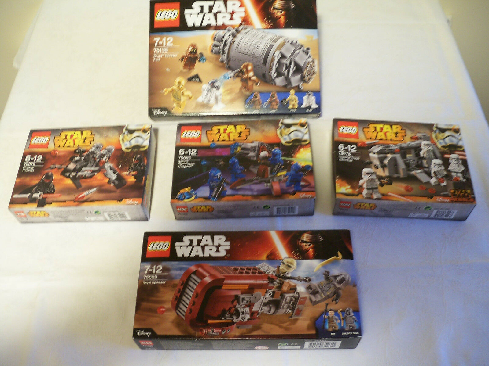 Lot de 5   sets    légo star wars