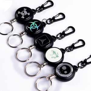 Retractable-Pull-Chain-Reel-Card-Badge-Holder-Recoil-Belt-Metal-Key-Chain-Clip