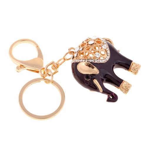 Elefant Kristall Schlüsselanhänger Autoschlüsselkette,