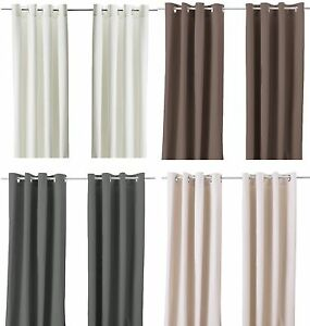 ikea merete pair of curtains 2 panels brown purple beige