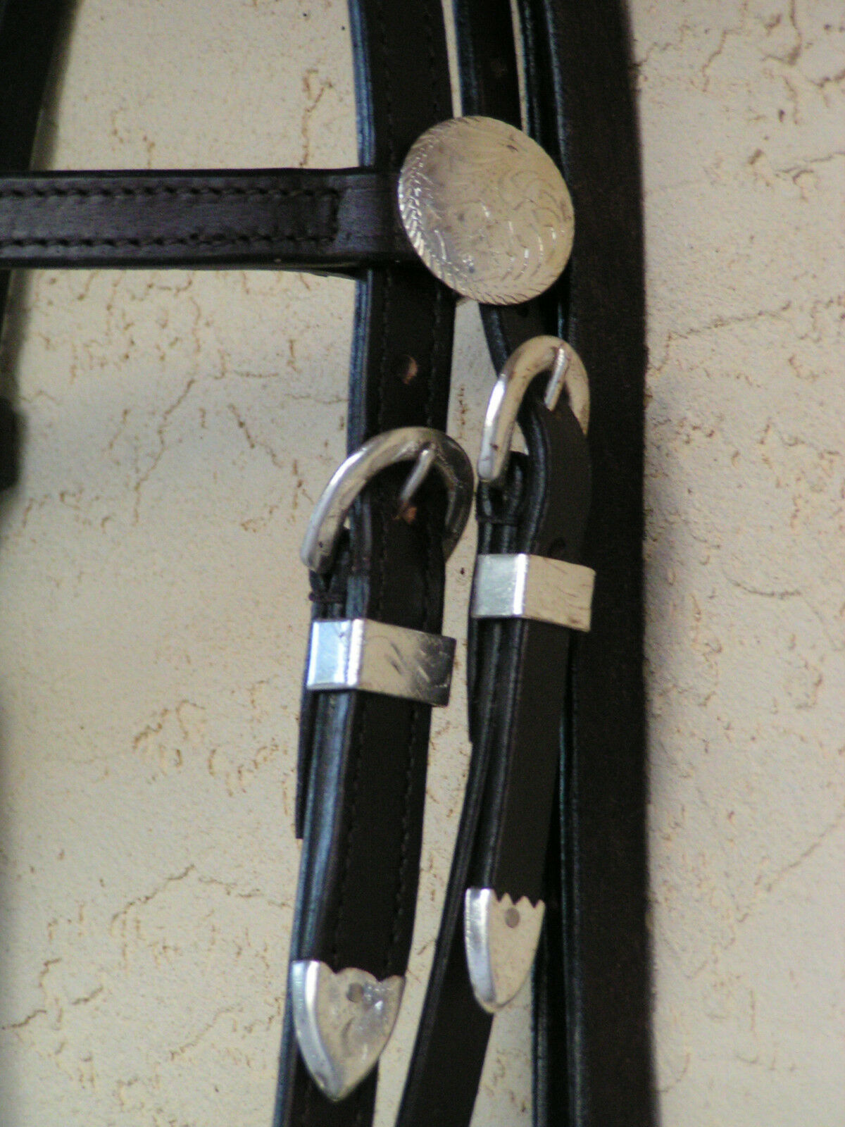 Cavtuttio  Fascia Sopracciglio Briglia western con argentoo Plus Plus Plus Bit & rossoini 3ed