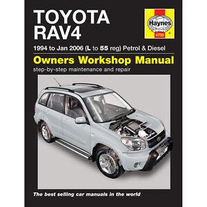 4750 Haynes manua l à 55 reg TOYOTA RAV 4 1.8 2.0 essence 2.0 Diesel 1994-06