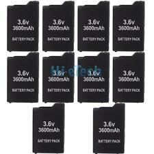 LOT 10 Black 3.6V 3600mAh Battery Pack for Sony PSP 1000 Fat 1001 Series Best