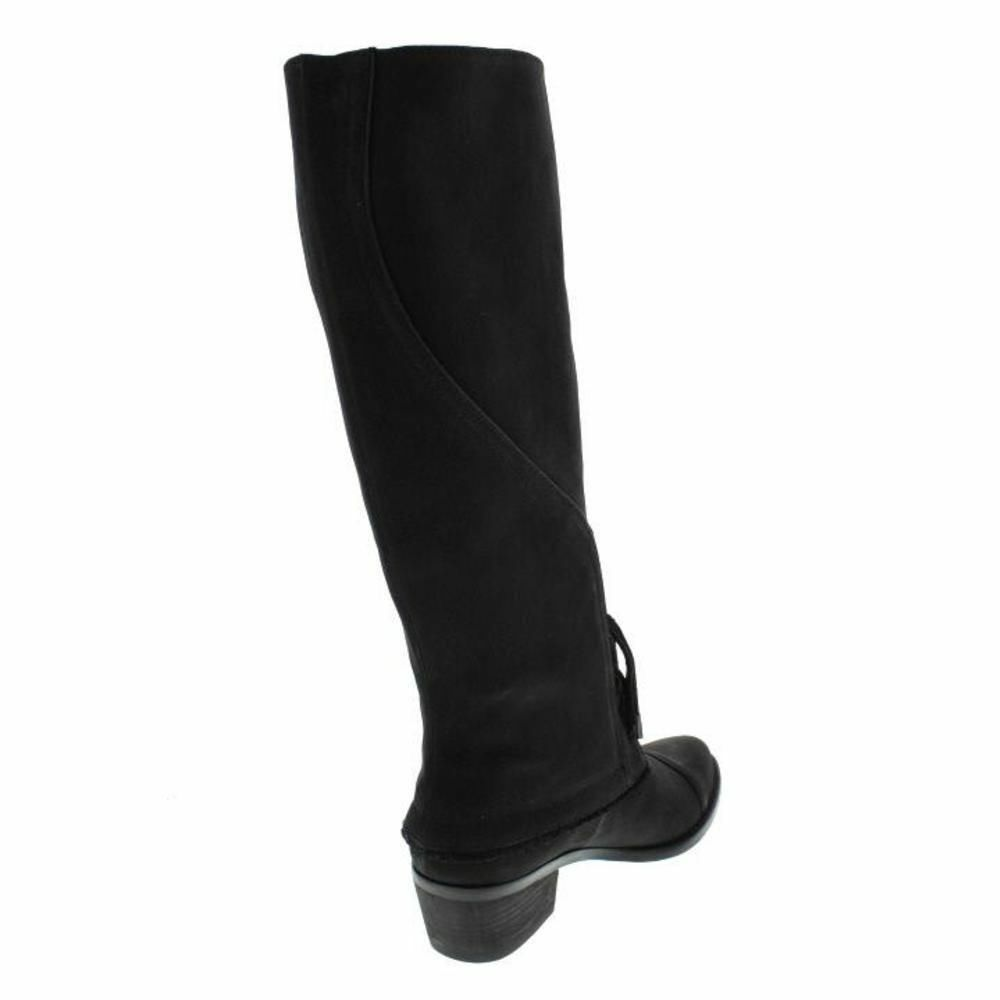 200 Rachel Roy Taree Black Leather Lace Up Knee Knee Knee High Boot Womens 7.5 NEW IN BOX 5386cd