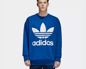 adidas orginals pullover blau herren