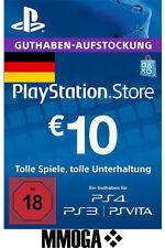 €10 EUR PlayStation Guthaben Key - 10 EURO PS4 PS3 PS Vita PSN Network Code - DE