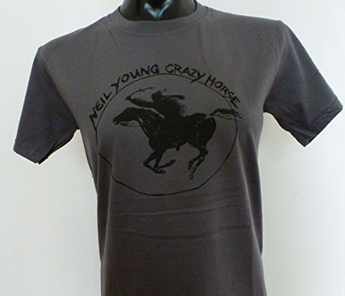 Neil Young Charcoal T-Shirt size S Guys 4029455800429 Grau, S, Male