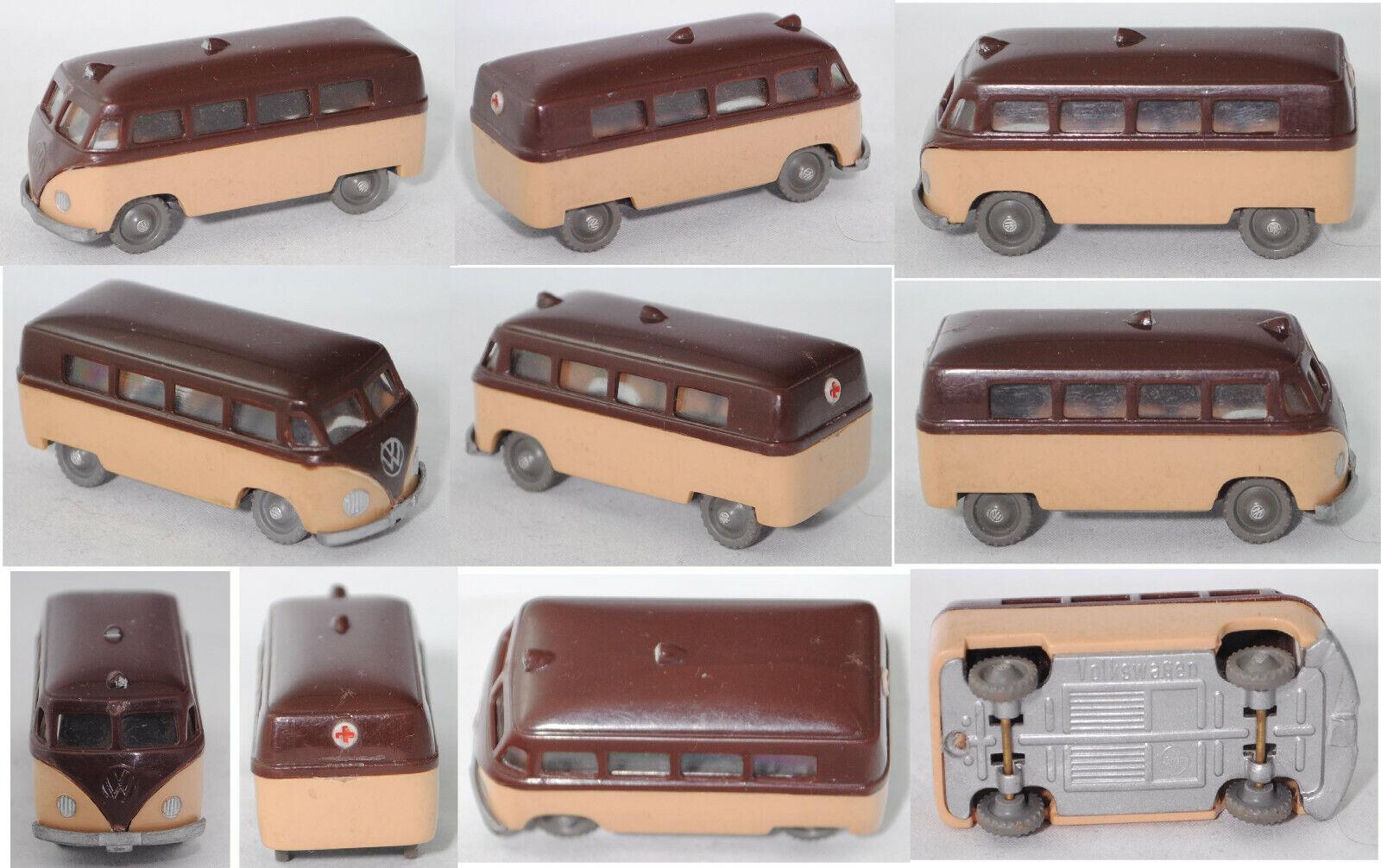 Siku plastique v14 VW-Ambulance (TYPE 2 t1) Chocolat Marron Beige