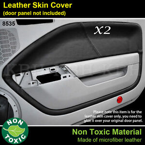 2pcs leather door panel card cover armrest fits ford for 05 mustang door panel leather