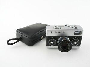 Rollei-35-Kompaktkamera-compact-camera-Carl-Zeiss-Tessar-1-3-5-f-40mm-Tasche