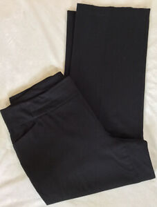 CJ-Banks-Black-Solid-Pull-On-Stretch-Bengaline-Career-Dress-Pants-Plus-Sze-18W