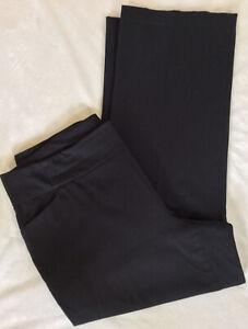CJ-Banks-Black-Solid-Pull-On-Stretch-Bengaline-Career-Dress-Pants-Plus-Sze-18W