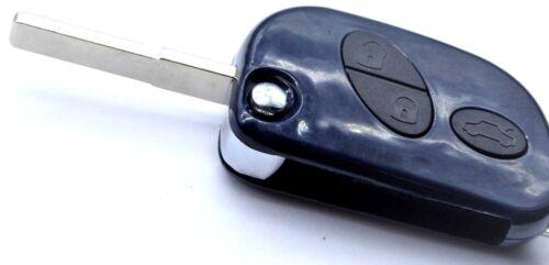 2xDunkelblaues Klapp Schlüssel Gehäuse 3 Tasten mit Batteriefach für Maserati