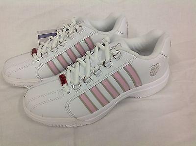K-Swiss Venue Damen Outdoor Tennisschuh, weiß/pink, Gr. 41