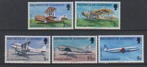Guernesey-1973-Aerien-Service-Aviation-Ensemble-MNH-Sg-84-8