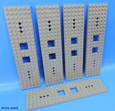 Lego ® nr - 6077826/6x24 vagón ferroviario placa gris oscuro/5 pieza