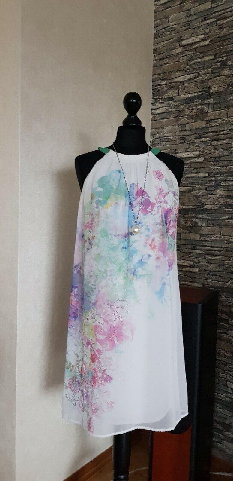 4e18fe8e607a20 Sommerkleid Strandkleid Luftig Leicht Gr.36 Abend Party Pastell Coctail  npycli886-neue Kleidung