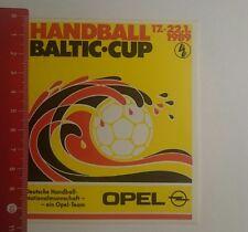 Aufkleber/Sticker: Handball Baltic Cup 1989 Opel (291216167)