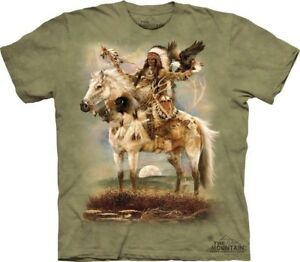 Spirit-T-Shirt-by-The-Mountain-Native-American-Indian-Horse-Sizes-S-5XL-NEW