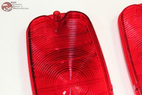 60-66 Chevy GMC Pickup Truck Fleetside Tail Lamp Light Lenses Bowtie Logo New Pr