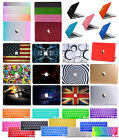 """Rubberized Hard Case Cover for Macbook Pro 12""""13/15""""Air 11/13""""+Silicone Keyboard"""