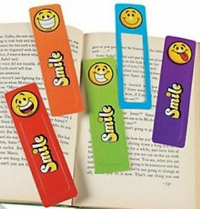 Smiley-Bookmarks-Book-Reading-School-Party-Bag-Fillers-Pack-Sizes-6-48