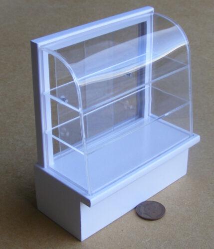 1:12 SCALA bianco verniciato Shop Display Cibo Casa delle Bambole Accessorio in miniatura LA3S