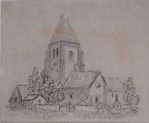 1879 Original Kunstwerk Zeichnung Sketch Von H. Budd