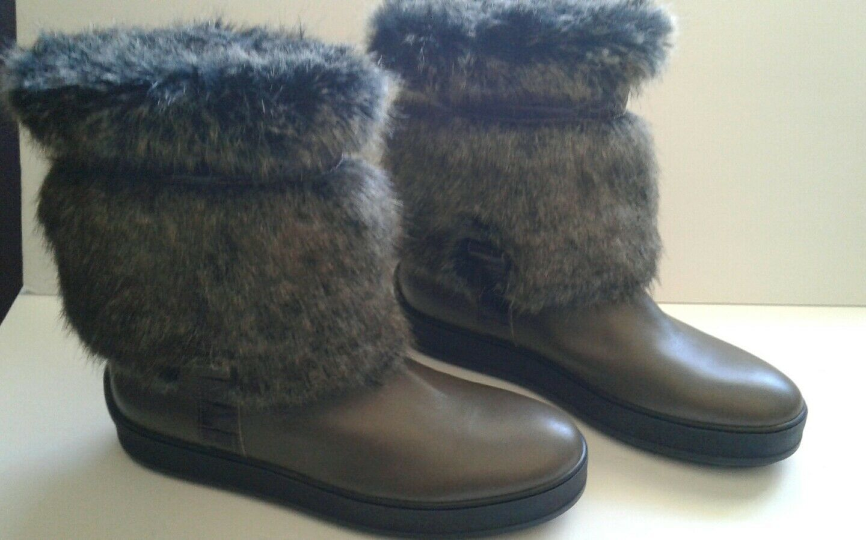 Aquatalia Kamila Faux Fur Trim Boot Fur Lined Bootie  10