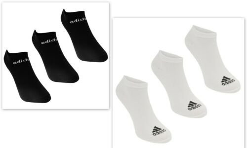 new  adidas 3 Pack Mens Genuine NoShow 73 Trainer Socks Size 5-14 SUMMER GYM