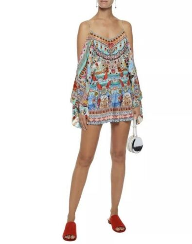 My Close Playsuit In Nwt Medium To Camilla Size 499 Shoulder Heart Drop Multi tqq54UxS