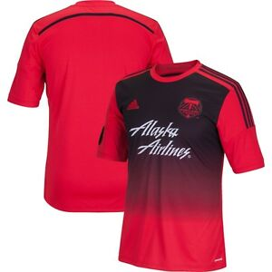 Details about adidas Portland Timbers MLS 2014-2015 Soccer Away Jersey Red / Black