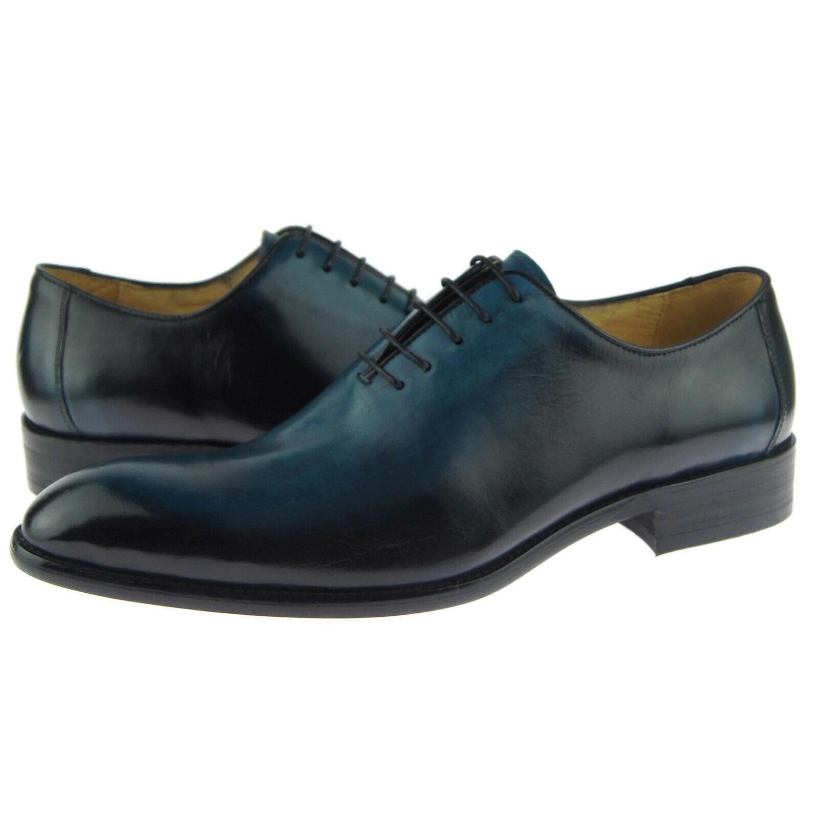 Carrucci  Burnished Wholecut Oxford, Men's Dress Leather scarpe, blu  vendite dirette della fabbrica