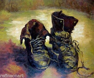 Vincent Van Gogh Painting repro A Pair of Shoes | eBay