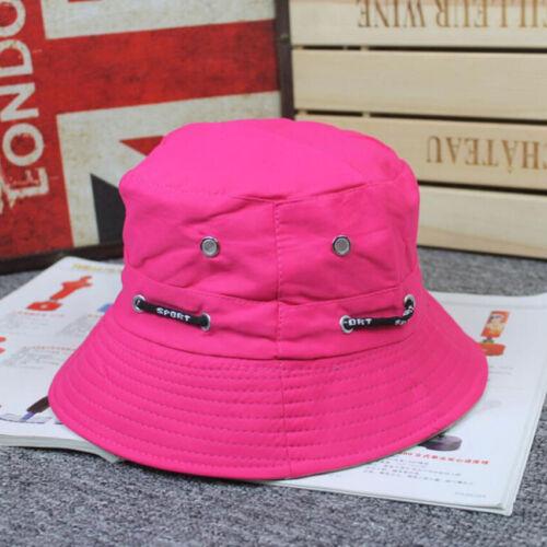 Mens Womens Boonie Flat Cap Hunting Fishing Summer Camping Adjustable Bucket Hat