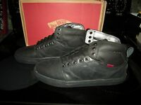 Brand Mens Bomber Black Vans Alomar Tennis Shoes, Size 9