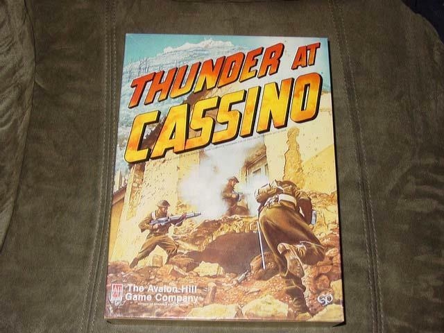 Avalon Hill 1987 - Thunder At Cassino - WWII Italian Campaign Battle  UNPUNCHED