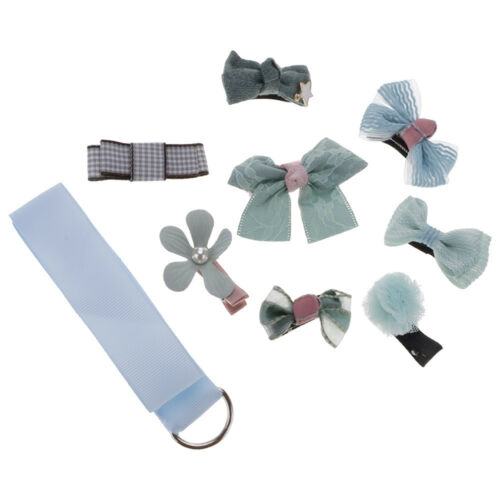 8Pcs//Set Bowknot Flower Hairpins Hair Barrettes Hair Clip Headwear Ribbon Gifts